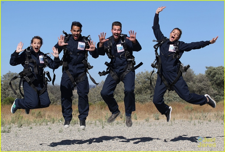 Big Time Rush Members Skydive For The 18 For 18 Project Rescue
